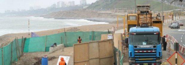 Paralizan obras en el malecón de la Costa Verde en Miraflores
