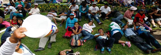 Pobladores del sur de la capital exigen agua