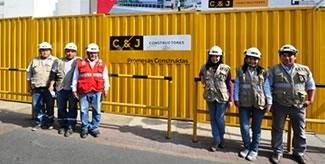Foco en C&J Constructores